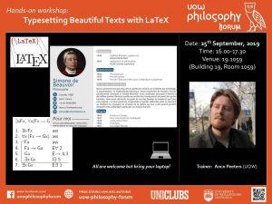 Poster workshop on LaTeX